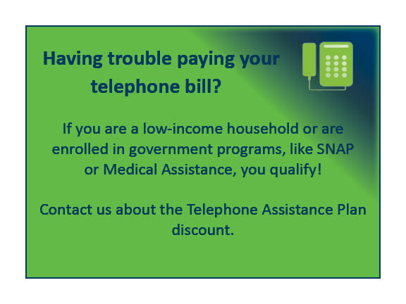 Telephone assistance graphic