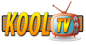 a tv with the word Kool next to it